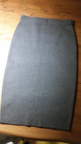 Neu! Strickrock Businessrock Bleistiftrock bis zum Knie von New Look Gr. 10 mit Gürtelschlaufen