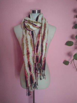 Codello Bufanda de flecos multicolor