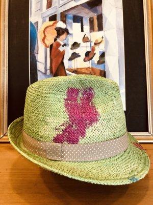 raffaello bettini Chapeau de paille multicolore