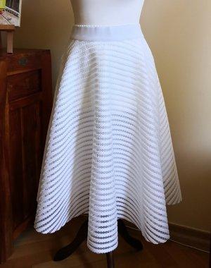 New Look Spódnica z koła biały Tkanina z mieszanych włókien