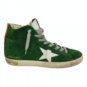 Golden Goose High Top Sneaker green leather
