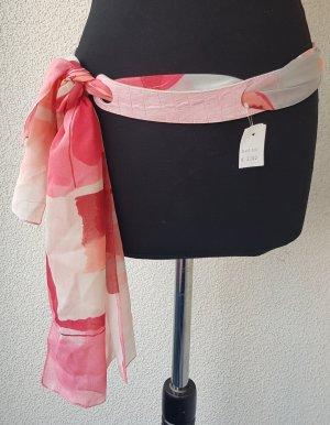 Cinturón de cuero de imitación rosa claro