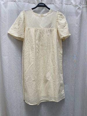 Vero Moda Sukienka typu babydoll złoto-jasnożółty Bawełna