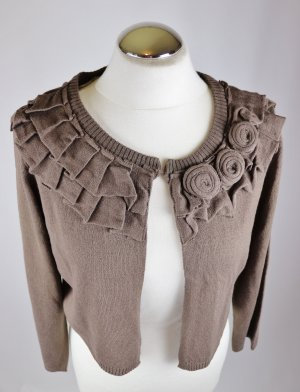 Vero Moda Knitted Bolero taupe-light brown polyacrylic