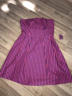 Neu süßes Vero Moda Kleid pink blau gestreift bandeau Träger 36