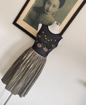 Suncoo Paris Plisowana spódnica brąz-złoto