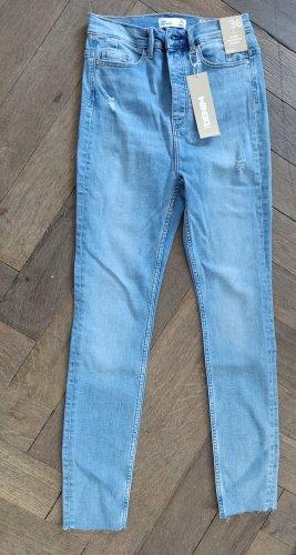 & DENIM Jeans taille haute bleu clair