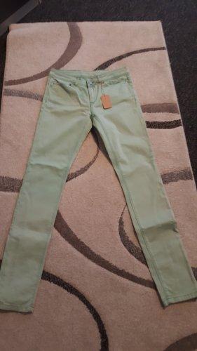 Superdry pantalón de cintura baja menta
