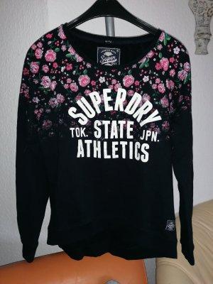 Neu Superdry Sweatshirt Pullover Blau Pink Rosen gr M