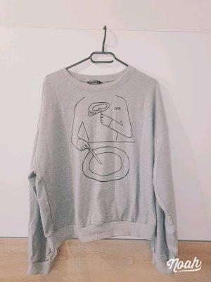 keine Marke bekannt Sweat Shirt light grey