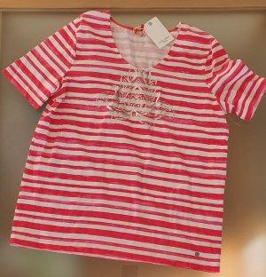 Gerry Weber Stripe Shirt white-brick red