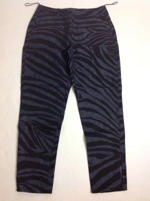Talbot Runhof Pantalone di lino blu scuro-nero