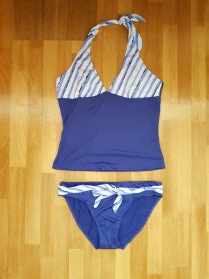 Bikini wit-blauw