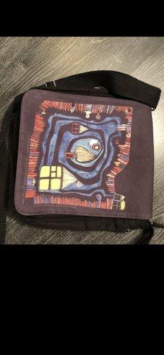 Hundertwasser Uniwersytecka torebka czarny