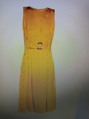 Ted baker Robe mi-longue jaune viscose
