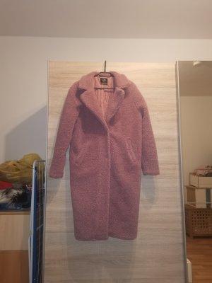 keine Marke Oversized jas stoffig roze