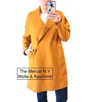 (The Mercer) NY Wollen jas goud Oranje-donkergeel Wol
