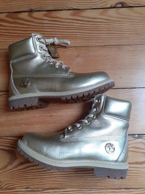 Timberland Aanrijg laarzen goud Leer