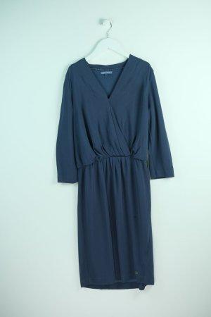 Tommy Hilfiger Midi-jurk donkerblauw Gemengd weefsel