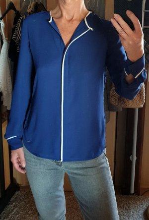 Neu Tommy Hilfiger Langarm Bluse blau Gr. 2 / S