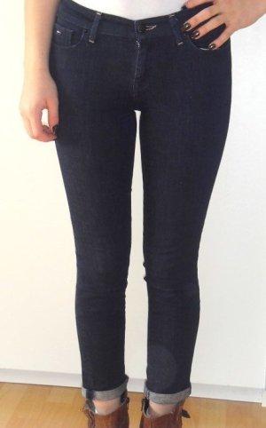 NEU Tommy Hilfiger Skinny Jeans Röhre 7/8 NINA Knöchel Dunkelblau W 26 XS 34