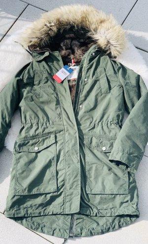 ❤️ Neu! Tommy Jeans Parka Langarm Jacke Mantel Hilfiger khaki grün dunkelgrün XS 34 36