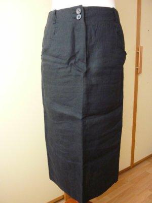 Toni Gard Linen Skirt black linen
