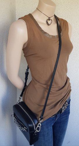 Blacky Dress Canotta a bretelle marrone-grigio