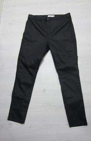 Topshop Pantalón de cintura alta negro