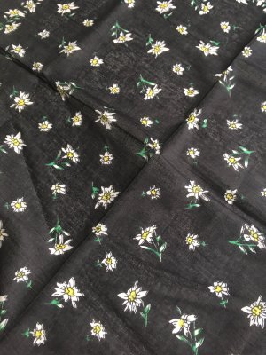 Traditional Scarf black cotton