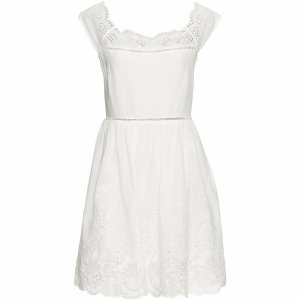 Bodyflirt Empire Dress white-natural white cotton