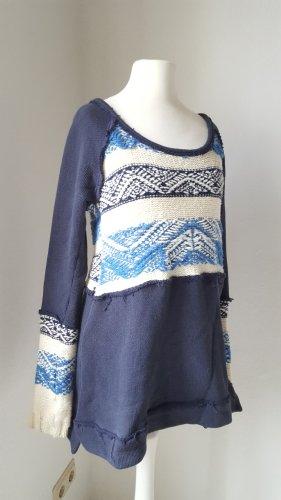 Neu! Traumhafter Free People Pullover Cotton Angora Xs 34 36 Blau
