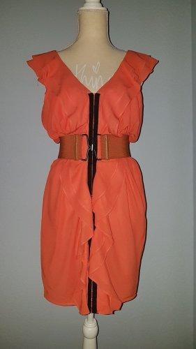 NEU traumhaftes Chiffonkleid KLEID DRESS 34 36 XS S Partykleid Coctailkleid Sommerkleid Abendkleid Sommerkleid Mini