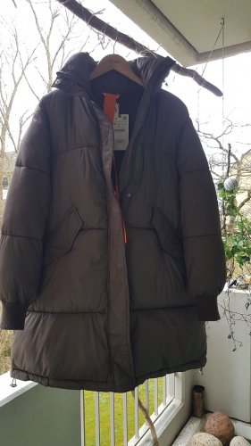 Zara Quilted Coat taupe
