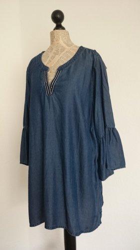 Sara Lindholm Tunic Blouse blue lyocell