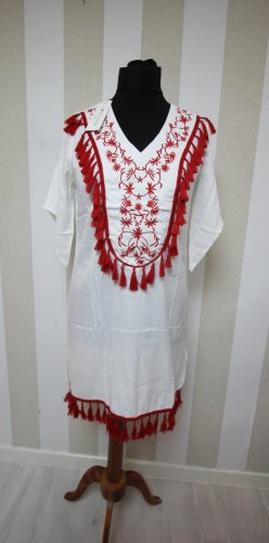 Tunic Dress white-red