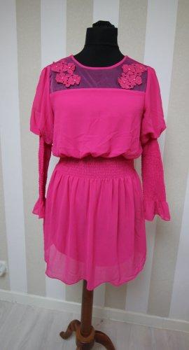 Vestido tipo túnica rosa