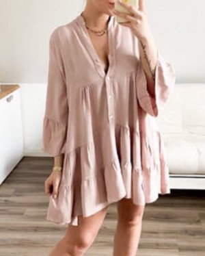 Made in Italy Robe tunique rosé-vieux rose
