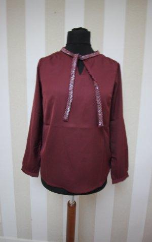 Camicia a tunica argento-rosso mora
