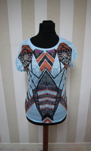 Camicia a tunica nero-azzurro