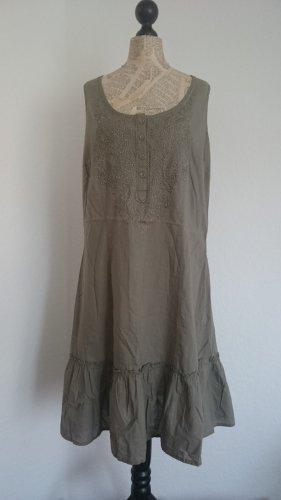 Bonaparte Tunic Dress khaki cotton