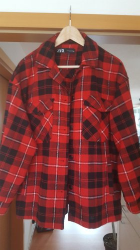 Zara Flannel Shirt red-black