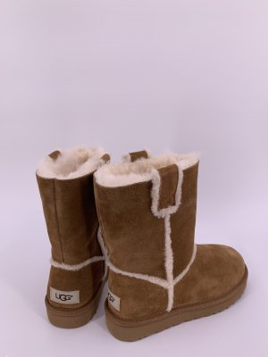 UGG Futrzane buty jasnobrązowy-brązowy