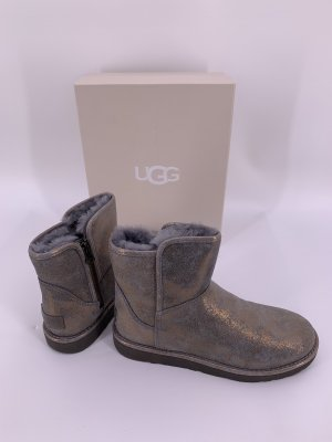 UGG Fur Boots bronze-colored-grey