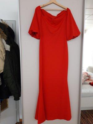 100% Fashion Robe de soirée rouge fluo-rouge