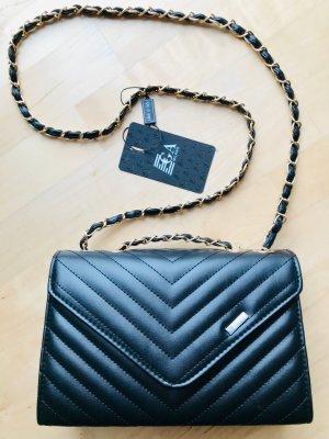Neu und unbenutzt: Schwarze Umhängetasche Stepptasche Padded Bag