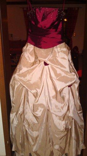 NEU und UNGETRAGEN! Abendkleid, Hochzeitskleid, Brautkleid, Ballkleid in Bordeaux/Champagner