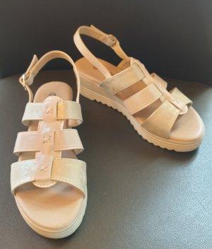 Wygodne sandały Wielokolorowy Tkanina z mieszanych włókien