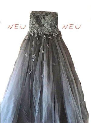 !!! NEU + UNGETRAGEN !!! Blütentraum in Grau - Wunderschönes Abendkleid / Brautkleid / Abiabschlussball-Kleid von JJs House