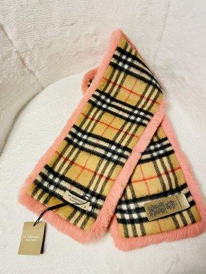 Burberry Bufanda de lana rosa-salmón Cachemir